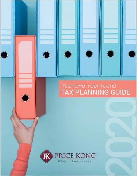 Price Kong 2020 Year-End Tax Planning Guide