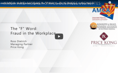"AMCA and MSBASA Small Business Vignette: The ""F"" Word: Fraud in the Workplace"
