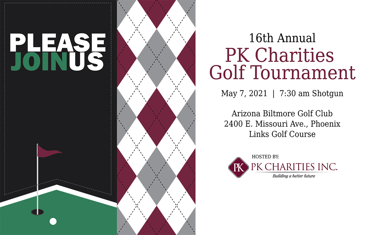 2021 PK Charities Golf Tournament Invitation Website